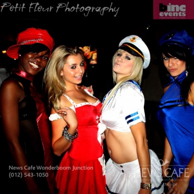 FHM models at  News Cafe WBJ Valentine party!